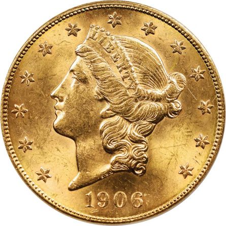 1906-S $20 Gold Liberty - Earthquake Gold