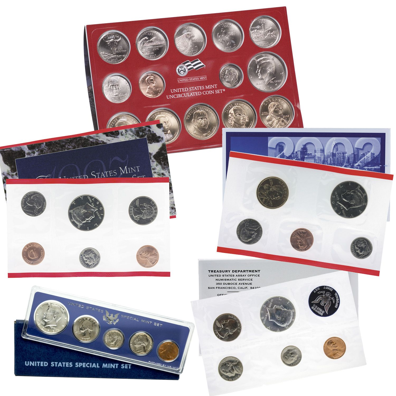 1966 United States Special Mint Set Silver Kennedy GEM BRILLIANT SETS