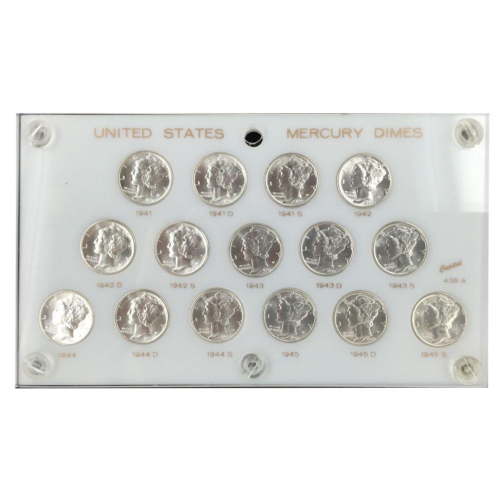 1941-1945 Silver Mercury Dime PDS Set