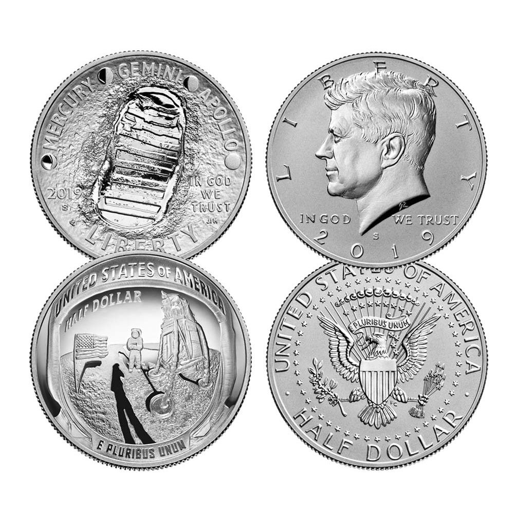 2019 Silver Kennedy Half Dollar Proof Coin 50c US Coin