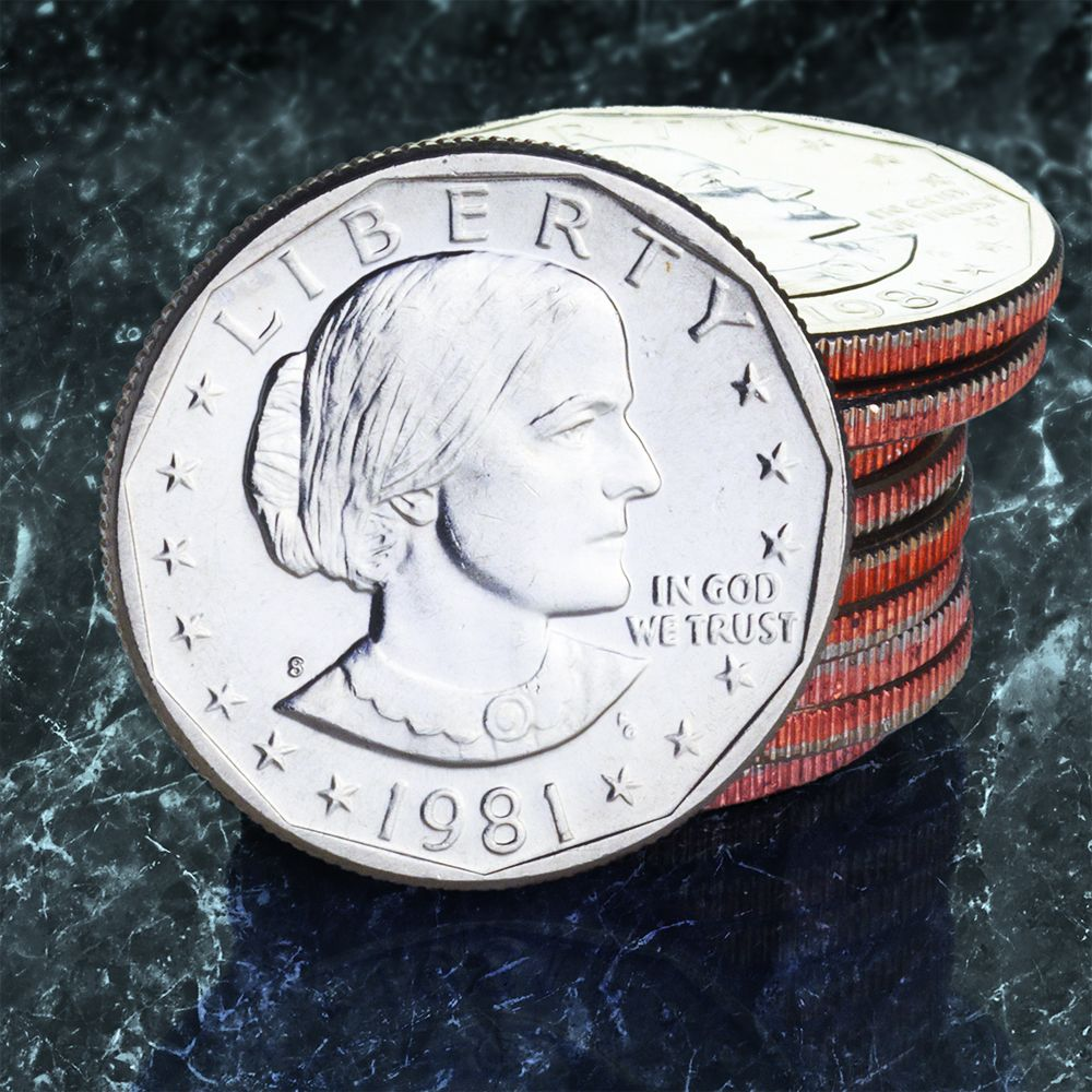 Susan B  Anthony Dollars 10 Coin set (Circulated)